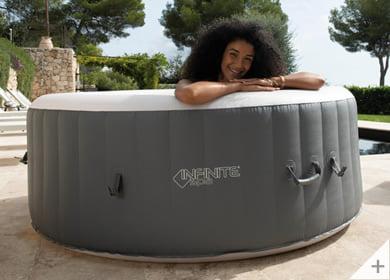 Vasca idromassaggio gonfiabile infinite spa rotonda XTRA 4 posti - Perfetta per l'esterno