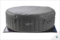 Vasca idromassaggio gonfiabile infinite spa rotonda XTRA 4 posti - Kit spa 1 - Copertura