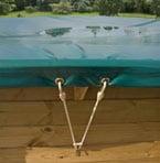 Copertura INVERNALE piscina in legno TROPIC