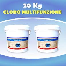 Formato convenienza - Cloro in pastiglie multifunzione 20 kg