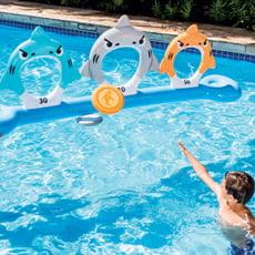 Gioco galleggiante squali con frisbee - Intex