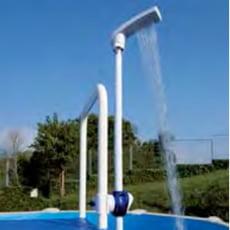 Doccia in PVC per piscina con fissaggio alla scaletta