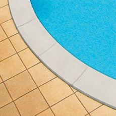 Bordo piscina in kit per SKYBLUE color SABBIA