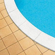 Bordo piscina in kit per SKYBLUE color bianco