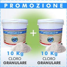 20 Kg di cloro granulare in polvere
