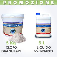 5 Kg Cloro granulare + 5 L Svernante