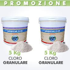 10 Kg di cloro granulare in polvere