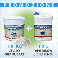 10 Kg Cloro granulare + 10 L antialga