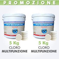 10 Kg di Cloro multifunzione in pastiglie da 200 g