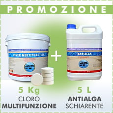 5 Kg Cloro multifunzione + 5 L antialga