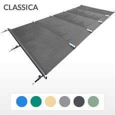Copertura a barre 4 stagioni CLASSICA 580 gmq formato STANDARD per piscina rettangolare 12x5 m