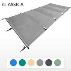 Copertura a barre 4 stagioni CLASSICA 580 gmq formato STANDARD per piscina rettangolare 11x5 m