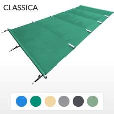 Copertura a barre 4 stagioni CLASSICA 580 gmq formato STANDARD per piscina rettangolare 9x4 m