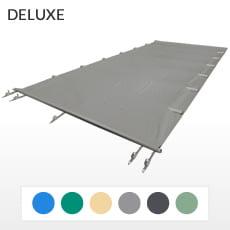Copertura a barre 4 stagioni DELUXE 580 gmq formato STANDARD per piscina rettangolare 11x5 m