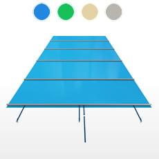 Copertura a barre CBE-650 formato STANDARD per piscina rettangolare 8x4 m