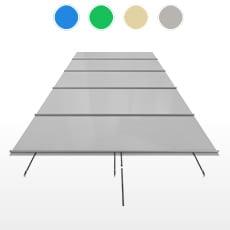 Copertura a barre CBE-650 formato STANDARD per piscina rettangolare 10x4 m