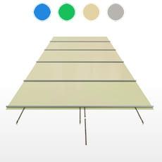 Copertura a barre CBE-650 formato STANDARD per piscina rettangolare 9x4 m