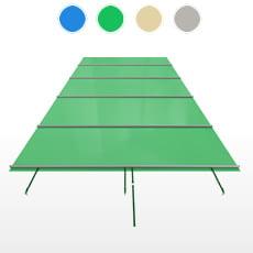 Copertura a barre CBE-650 formato STANDARD per piscina rettangolare 7x3 m