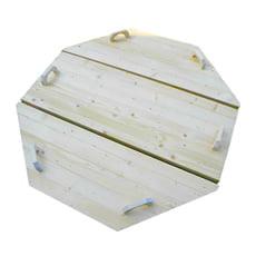 Copertura in legno ø 1,9 m per tinozza vasca a botte