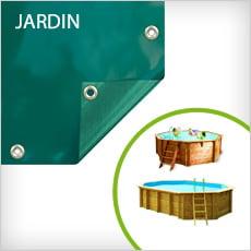 Copertura invernale 4 stagioni DELUXE per piscine fuori terra in legno esagonali e ottagonali JARDIN