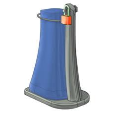 Staffa di fissaggio docce antivandalico e antifurto ARKEMA-D120