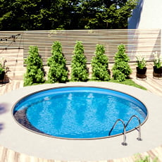 Kit piscina interrata in acciaio SKYBLUE Relax 400 - h. 120 cm