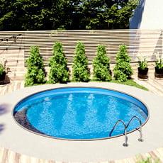 Kit piscina interrata in acciaio circolare SKYBLUE Relax 600 - h. 150 cm