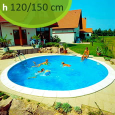 Kit piscina interrata in acciaio SKYBLUE Relax 700 - h. 120/150 cm