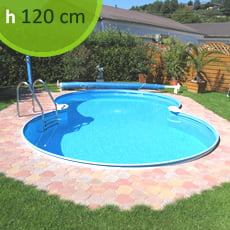 Kit piscina interrata in acciaio SKYBLUE Space 625 - h. 120 cm