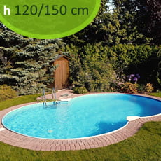 Kit piscina interrata in acciaio SKYBLUE Space 725 - h. 120/150 cm