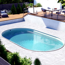 Piscina interrata in kit in acciaio ovale SKYSAND Comfort 525 - h. 150 cm