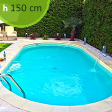 Piscina interrata in kit in acciaio SKYSAND Comfort 900 - h. 150 cm