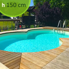 Piscina interrata in kit in acciaio SKYBLUE Space 625 - h. 150 cm