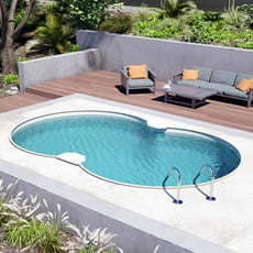 Piscina interrata in kit in acciaio SKYSAND Space 855 - h. 150 cm