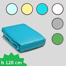 Liner PVC 75/100 presagomato rettangolare con fondo piano - H 120 cm