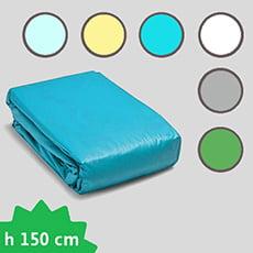 Liner PVC 75/100 presagomato rettangolare con fondo piano - H 150 cm