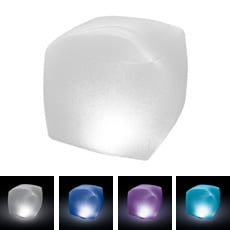 Cubo luminoso galleggiante per piscina con luce LED Intex 28694