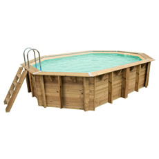 Piscina in legno fuori terra OCEAN 550x355 - Liner sabbia