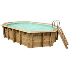 Piscina in legno fuori terra OCEAN 610x400 - Liner sabbia