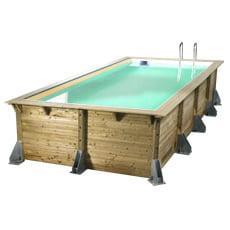 Piscina in legno fuori terra AZURA 505x350 - Liner sabbia
