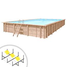 Piscina in legno rettangolare autoportante RIVA CARRE 12x6