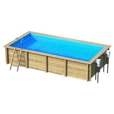 Piscina in legno fuori terra rettangolare WEVA 6x3