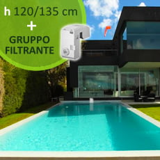 Piscina interrata kit pannelli acciaio RESIDENTIAL POOL 9x4 m