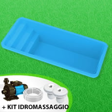 Piscina interrata in vetroresina GARDENIA  + Kit idromassaggio