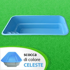 Piscina interrata in vetroresina MANTA - Colore Celeste