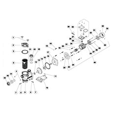 Ricambi Pompa Giulia 50-75-100-150-200-300 con prefilitro Monofase/Trifase