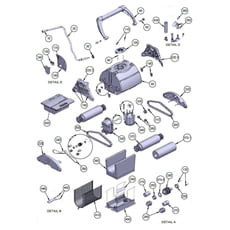 Ricambi robot pulitore automatico Trac 3000