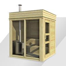 Sauna finlandese da giardino Cubo 2x2 m