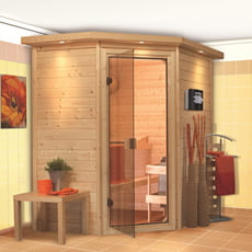 Sauna finlandese Camelia in massello 38 mm