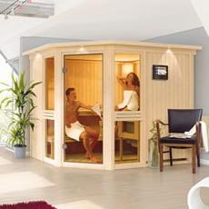 Sauna finlandese in legno nordico Dalila 3
